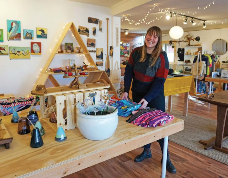 Brooke Yokers opened Lady Fern in 2019. Everything she sells is locally made, mostly by Hood River and Parkdale artists.